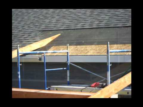 Construction Of A Roof Addition Over An Existing Concrete