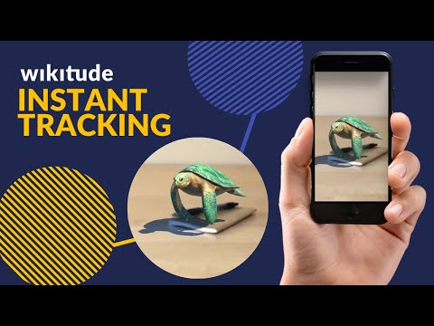 Floating turtle - Wikitude Instant Tracking - By YETi CGI