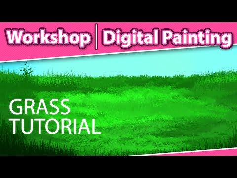 How To Paint Grass In Photoshop - Digital Painting Workshop
