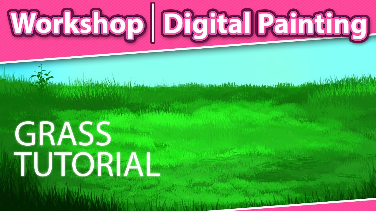 How to Paint Grass in Photoshop  Digital Painting