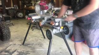 Harbor Freight Mobile Miter Saw Stand Review