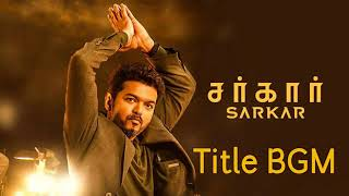 SARKAR BGM ✔️ NO COPYRIGHT  Sarkar bgm No Copyright  Sarkar Theme Music  Thalapathy BGMs  SARKAR360p