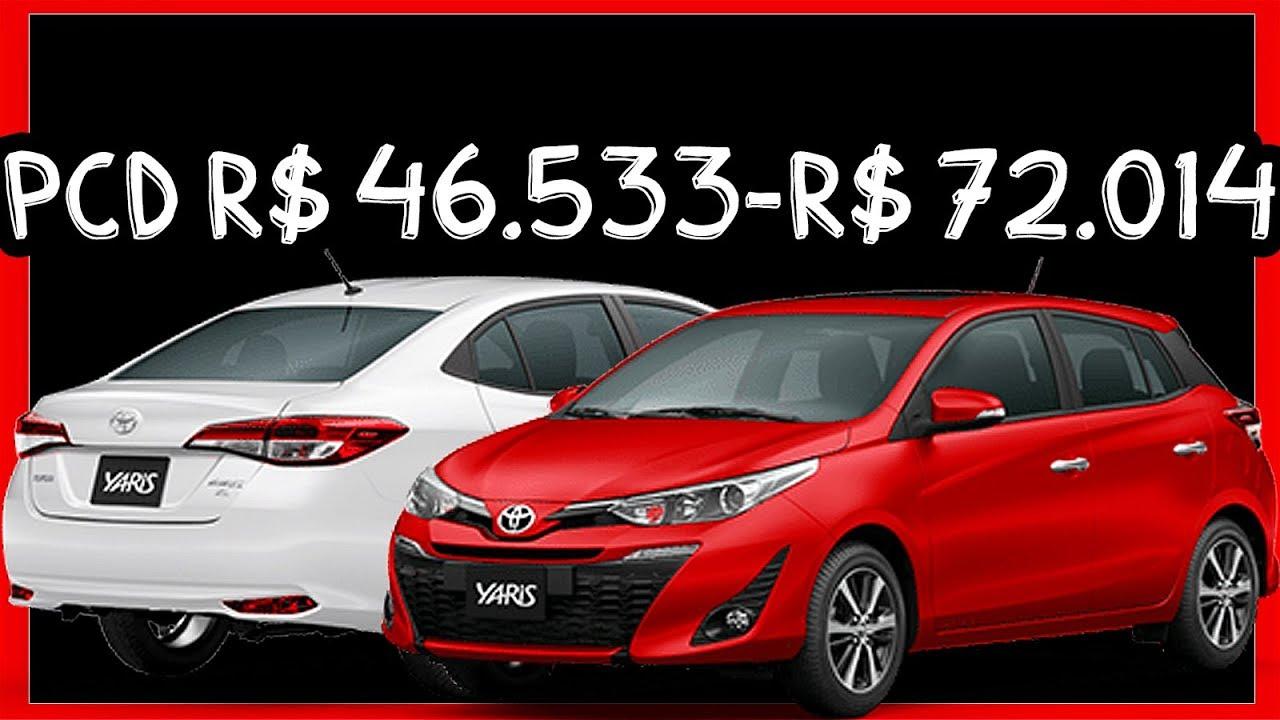 Pcd R 46 533 R 72 014 Precos Do Toyota Yaris Hatch Sedan