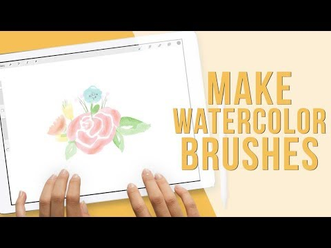 How to Make Watercolor Floral Stamp Brushes in Procreate