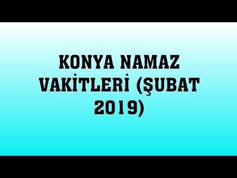 Konya Namaz Vakitleri (ŞUBAT 2019)