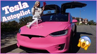 Download DOING MY MAKEUP ON TESLA AUTOPILOT! Mp3 and Videos