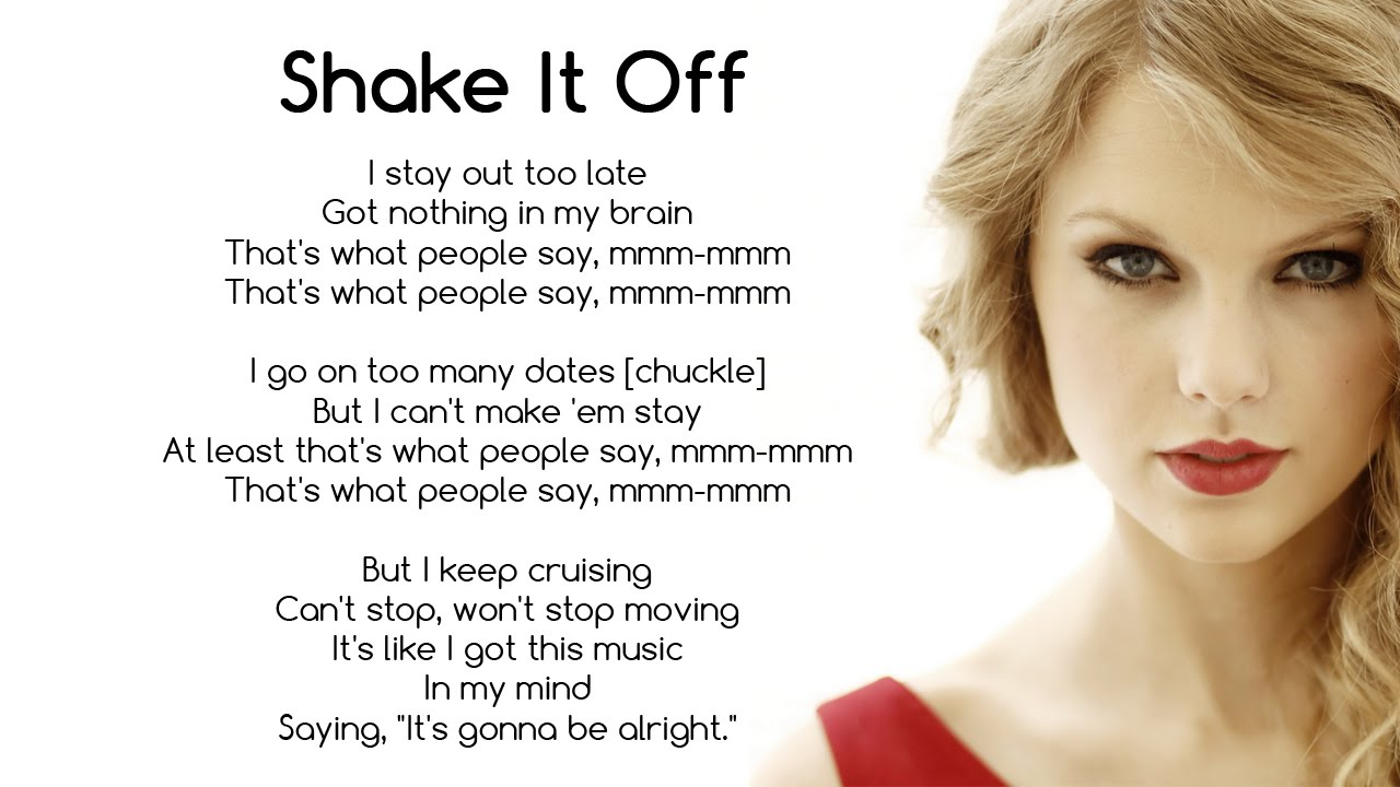 taylor swift shake it off with lyrics youtube