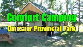 Comfort Camping at Dinosaur Provincial Park - the Badlands of Alberta a Video Tour