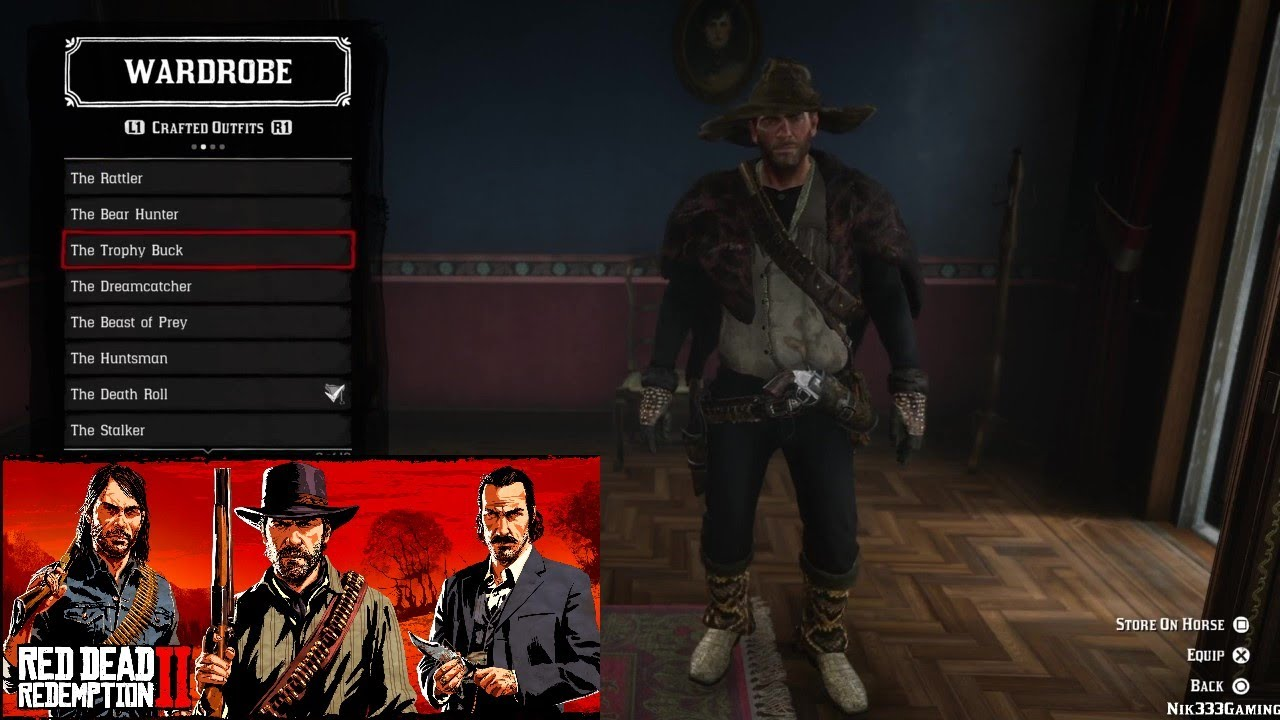 All trapper outfits Showcase Red Dead Redemption 5