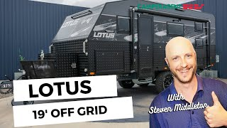 Here's Steve Taking A Look At The 19' Lotus Caravans Off Grid With Bunks Review