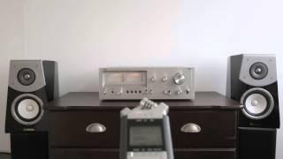 Yamaha Speakers Soavo B901 Test - JVC JA S22 on zoom h4n