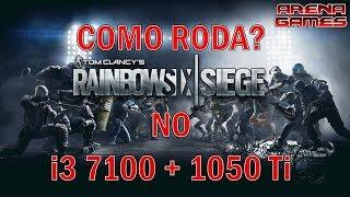 Rainbow Six Siege rodando no PC com i3 7100 + GTX 1050 Ti - Veja o desempenho no Ultra - HIgh e Low
