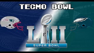 Super Bowl 52 Tecmo Bowl Prediction!!! Patriots vs Eagles