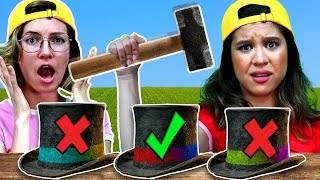 DO NOT DESTROY the Wrong MAGIC Hat Challenge! (Funny Pranks by Magic Spell Book)