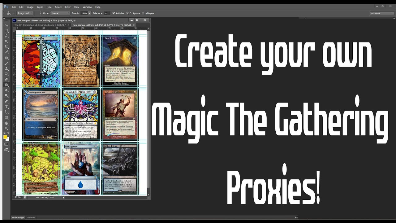 Magic the Gathering Proxies workflow