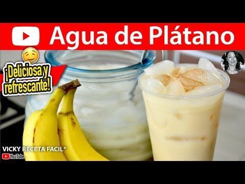 AGUA DE PLATANO | Vicky Receta Facil