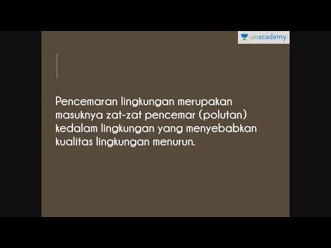 Pencemaran (Biologi - SBMPTN, UN, SMA)