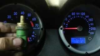Motortemperatursensor wechseln zb ( VW Lupo ) Temperaturanzeige geht nicht