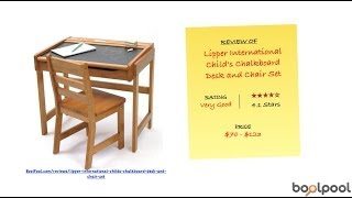 Review Of Lipper International Child's Chalkboard Desk And Chair Set