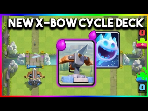 Clash royale best x bow cycle deck legendary arena for Clash royale deck arc x