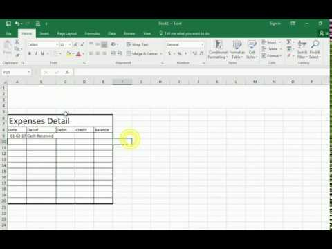 how we can make ledger on excel sheet youtube