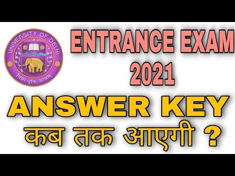 DELHI UNIVERSITY UG/PG ENTRANCE EXAM 2021|| ANSWER KEY कब तक आ सकती है ?