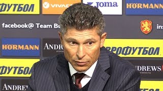 Bulgaria Manager Krasimir Balkov Denies Hearing Racist Chants - Bulgaria 0-6 England