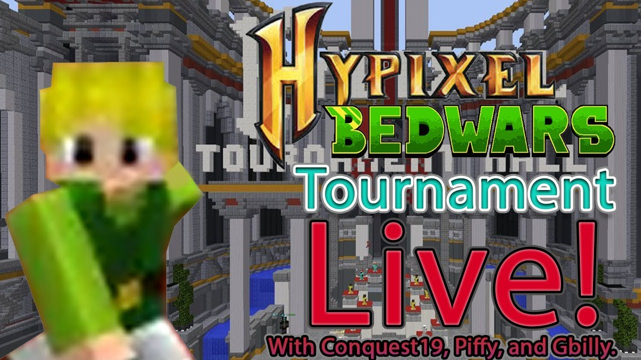 Hypixel Bedwars Tournament Live! (with Conquest19, Piffy, and Gbilly)