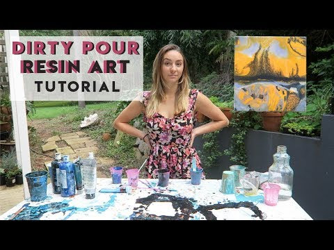 Dirty Pour Resin Art Tutorial | Resin Art for Beginners