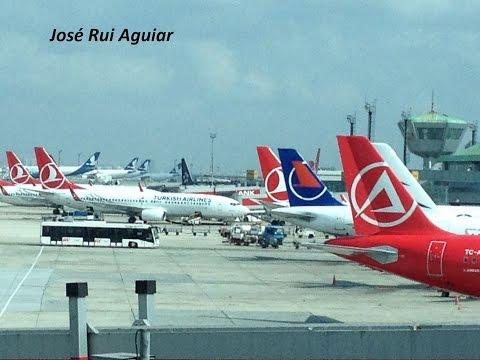 Istanbul Ataturk Airport Handling Landings Takeoffs Turkish Airlines Onurair Atlas Global Aegean