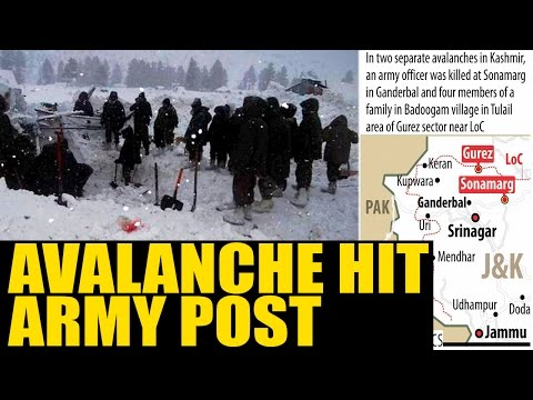 Kashmir: Avalanche hit army post in Kashmir|Oneindia News