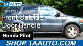 how to install replace front outside door handle 2003 08 honda pilot