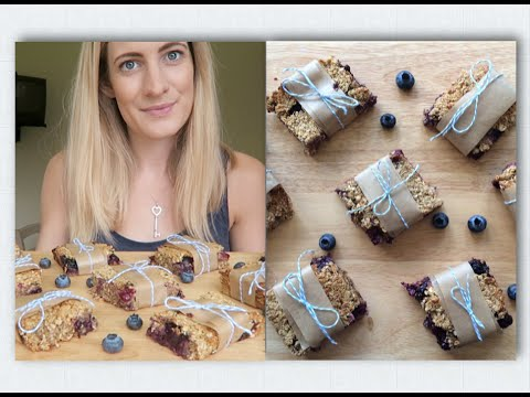 Coconut & Blueberry Flapjacks from Niomi Smarts #Eatsmart