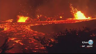 New fissures open, lava becomes more fl...