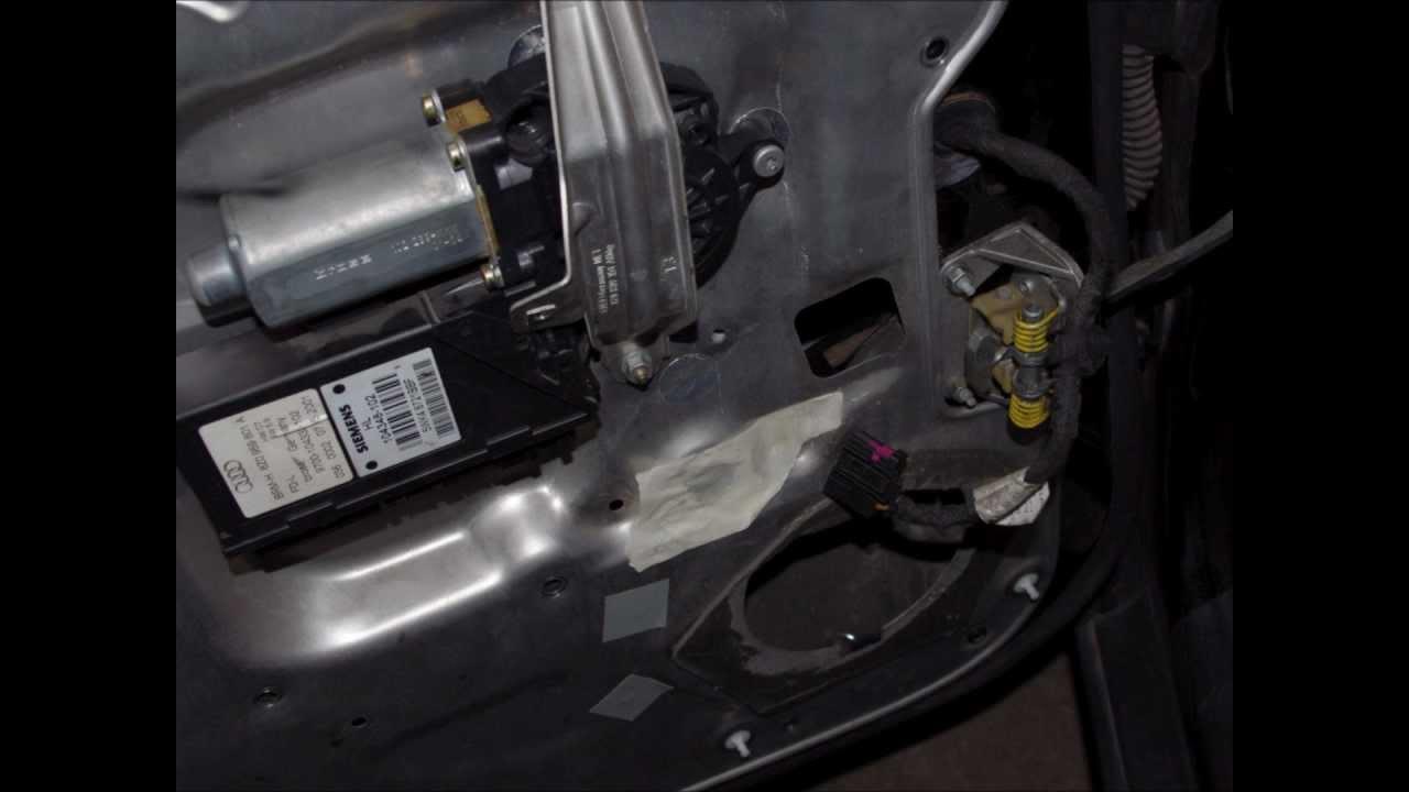 Schema Elettrico Alzacristalli : Audi a2 sostituzione alzacristallo elettrico posteriore youtube