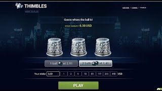 1xbet (playing thimbles)