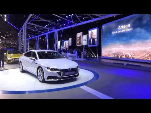 VW Arteon Premiere Press Conference at Geneva Motor Show 2017
