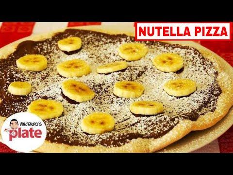 NUTELLA PIZZA RECIPE   How To Make Nutella Dessert Pizza