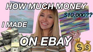 SELLING ART ON EBAY *i made HOW much???*