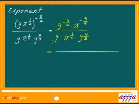 Algebra - Negative Fractional Exponent Part1 - YouTube