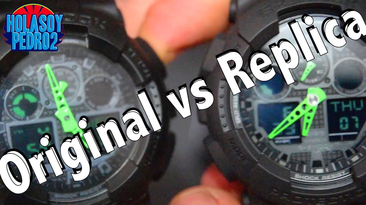 2cbc6d36abce Casio G-Shock Ga100c-1a3 Replica Vs Original - YouTube