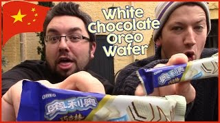 Oreo White Chocolate Wafer Review (Chinese)