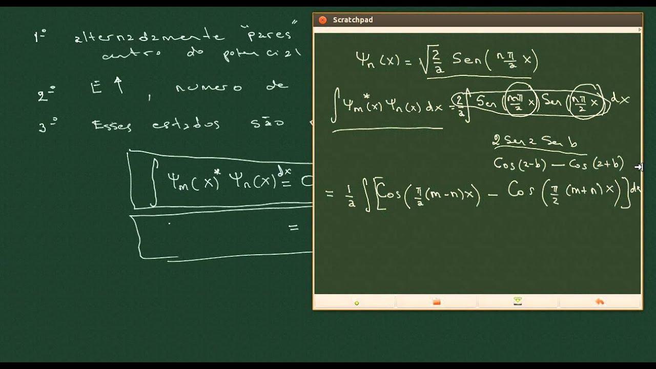 a9262b0a50c Aula 10 - Equação de Schrodinger Independente do Tempo  Poço Quadrado  Infinito