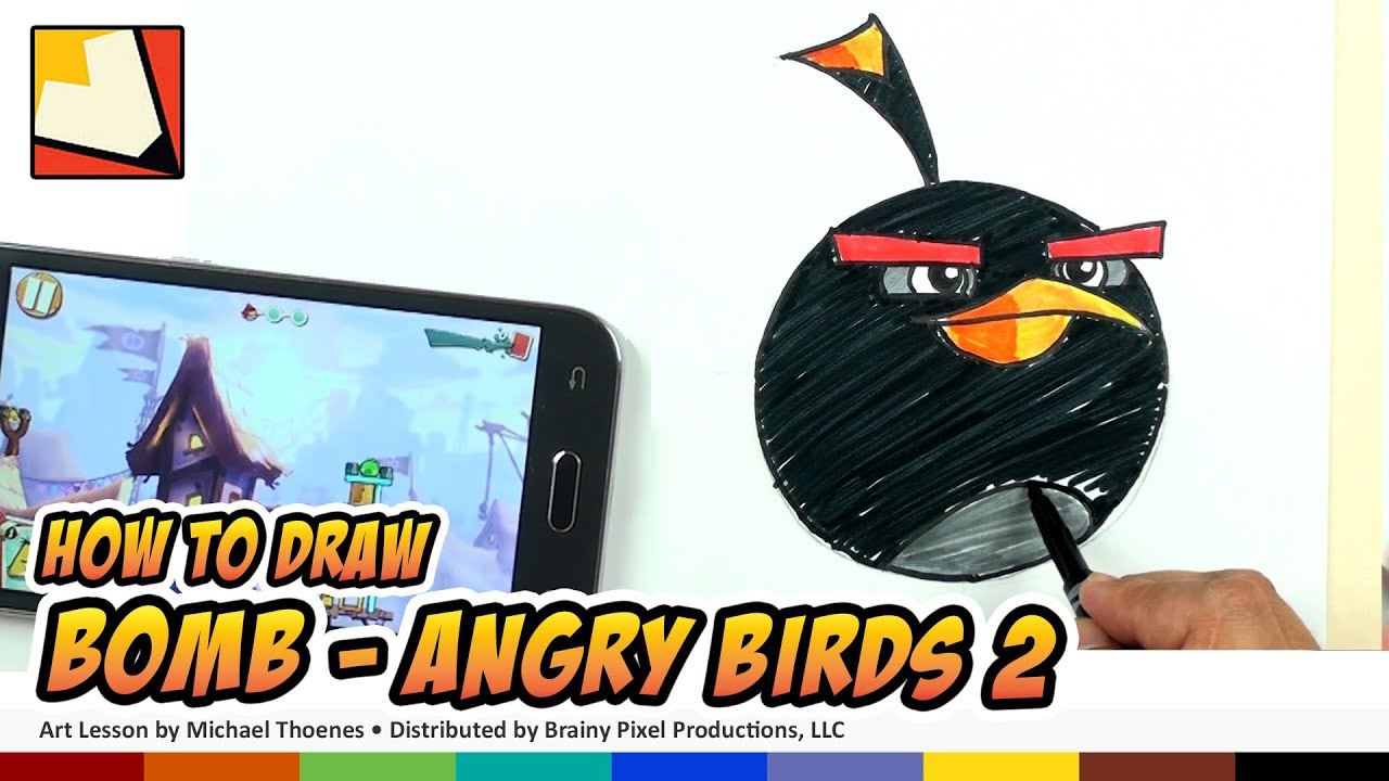 How To Draw Angry Birds 2 Characters - Bomb