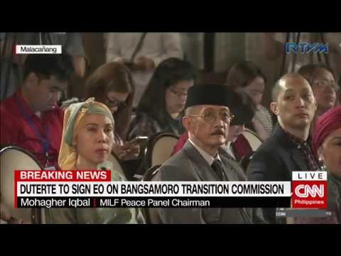 Duterte signs EO creating new Bangsamoro Transition Commissi