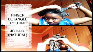Full Finger Detangling Routine - 4c Natural Hair Quick + Gentle! | Missguidedgirl4