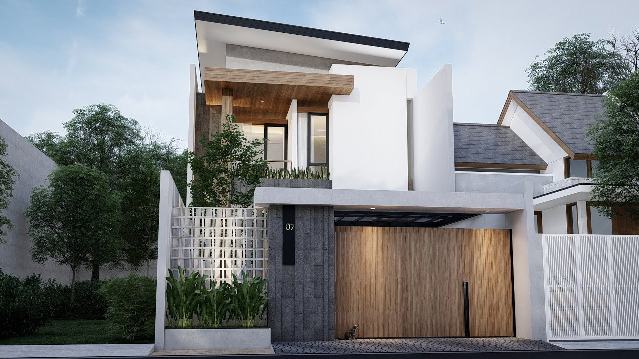 Desain Rumah Kontemporer 2 Lantai Lahan 22m x 7.2m || Project Showreel