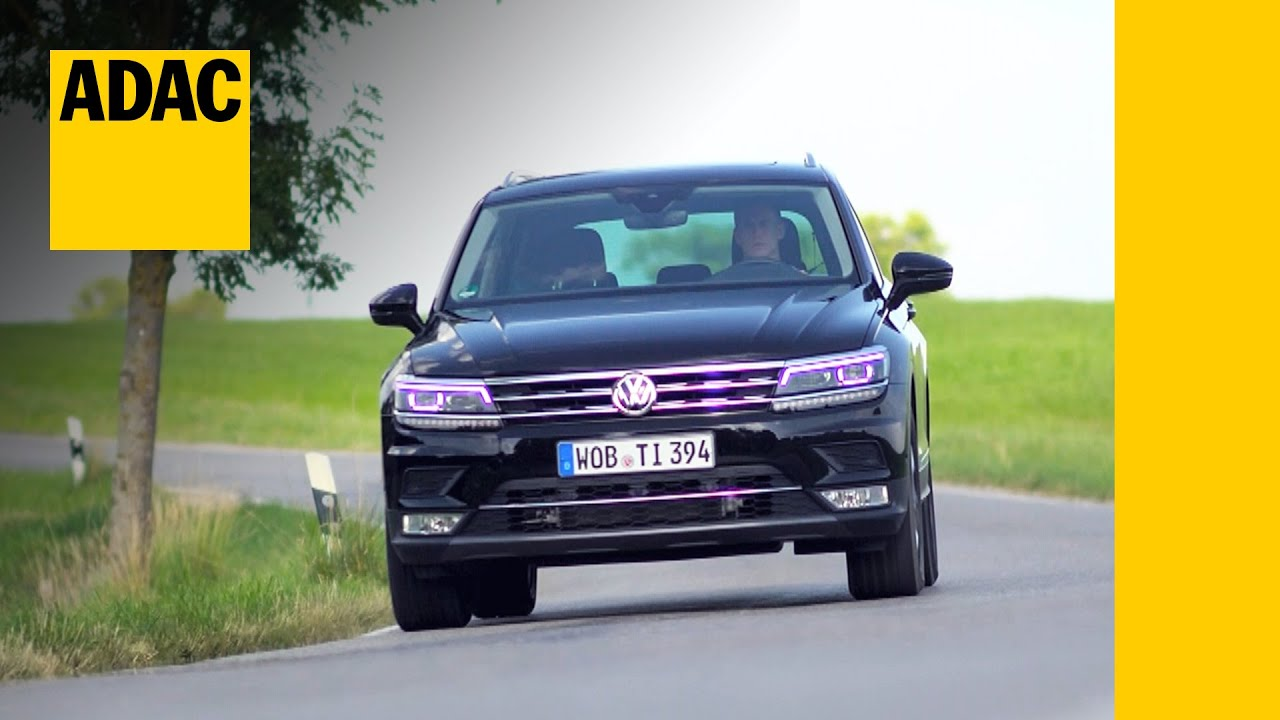 vw tiguan im test autotest 2016 adac youtube. Black Bedroom Furniture Sets. Home Design Ideas
