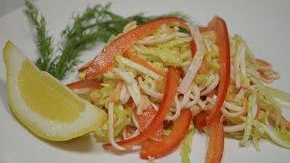 Простой салат с крабовыми палочками