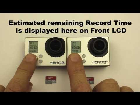 How long can I record for with a 32GB MicroSD card? GoPro HERO3 / HERO3+ Black Edition (Protune OFF)